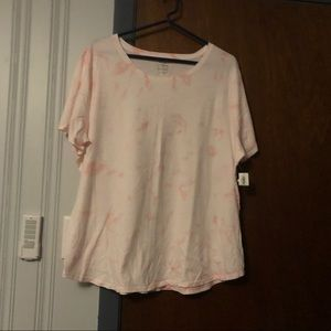 Pink tie-dye style shirt